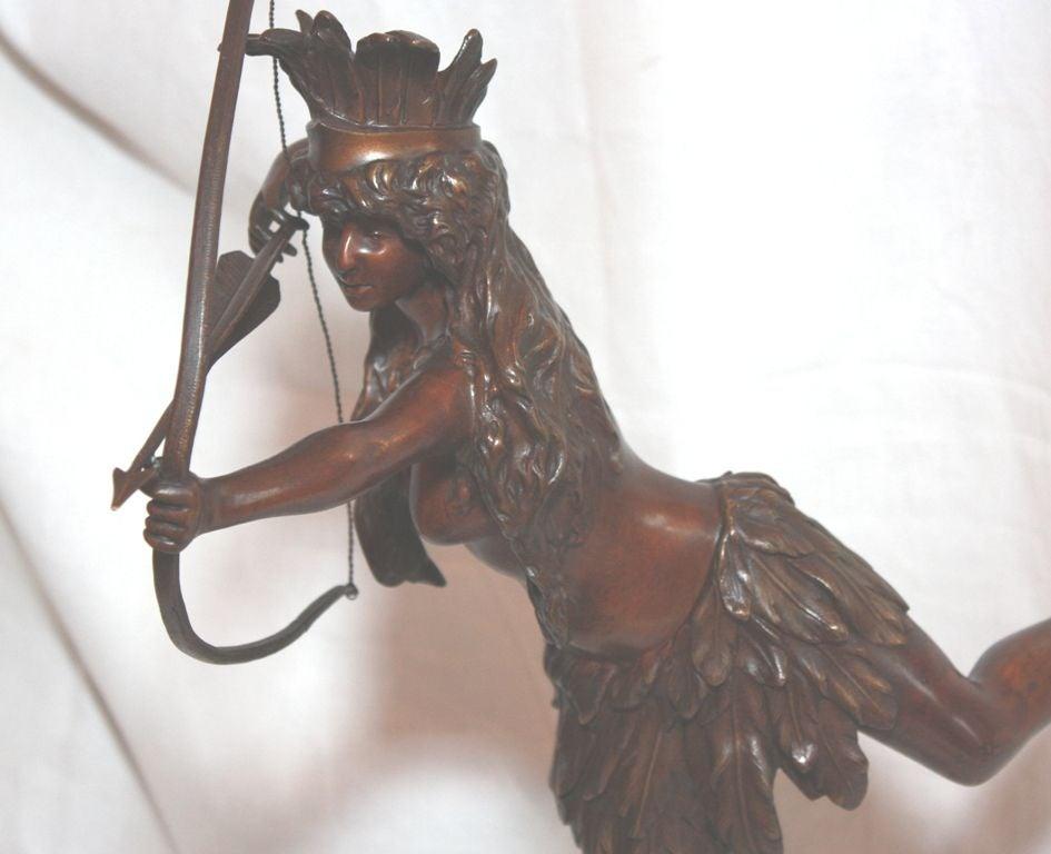 Bronze Statue Of Indian Maiden Archer At 1Stdibs-3790