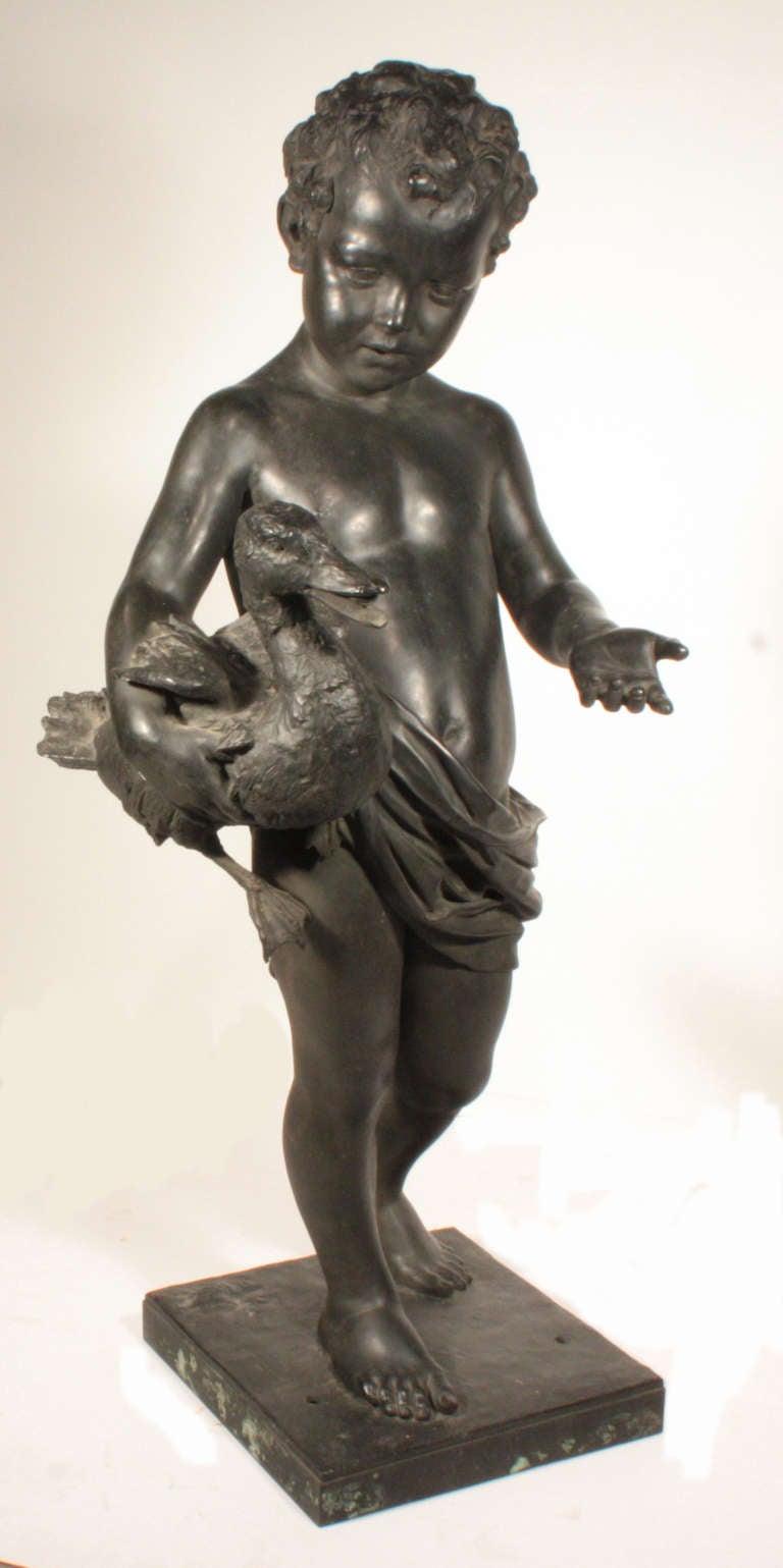 Italian Bronze Figural Fountainhead In Good Condition For Sale In Montreal, QC