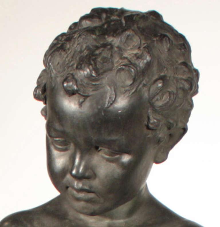 Italian Bronze Figural Fountainhead For Sale 1