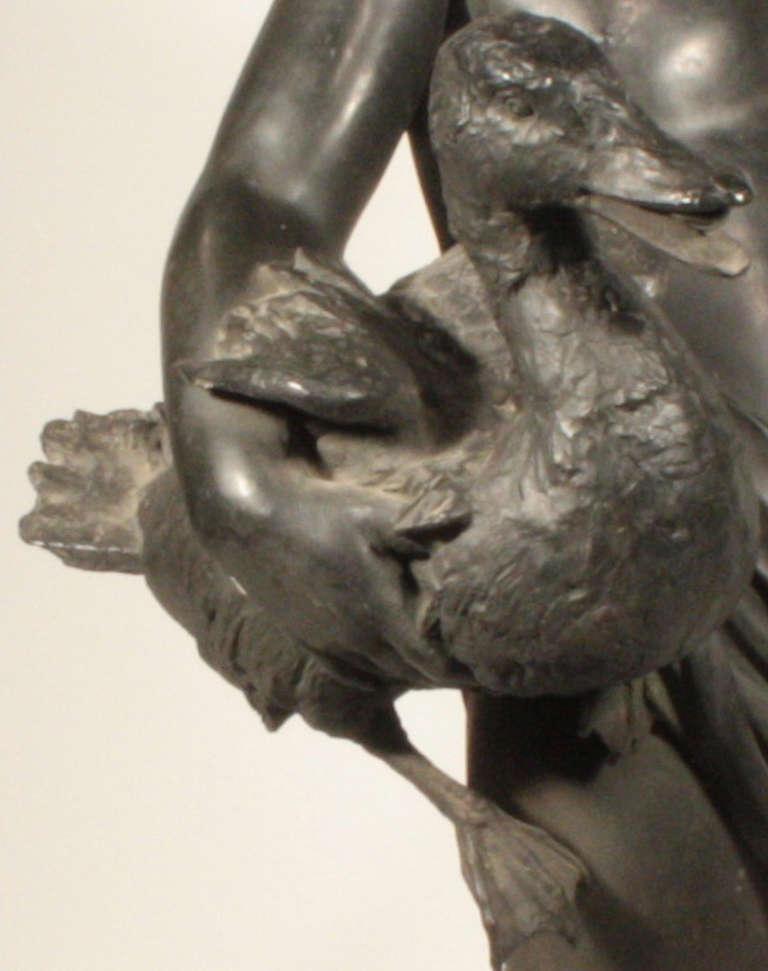 Italian Bronze Figural Fountainhead For Sale 2