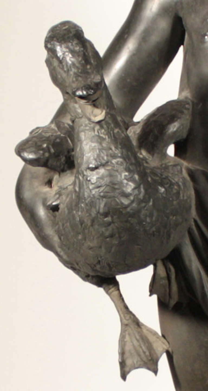 Italian Bronze Figural Fountainhead For Sale 3