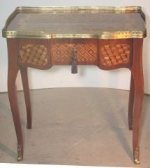 Louis XV Mahogany and Marquetry Dressing Table image 2