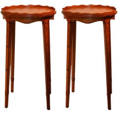Pair of Satinwood Port Stands