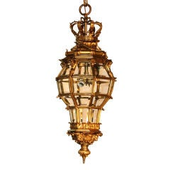 Louis XIV Style Gilt Bronze Octagonal Versailles Lantern