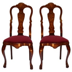 Pair of  Anglo-Dutch Side Chairs