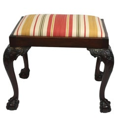 Antique Chippendale Style Mahogany Stool