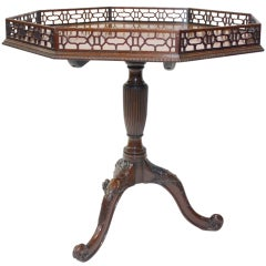 George III Style Octagonal Mahogany Gallery Table