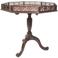 George III Style Octagonal Mahogany  Table