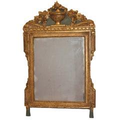 Louis XVI Period Carved Parcel Giltwood Mirror