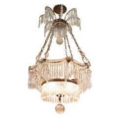 Crystal and Gilt Bronze Baltic Chandelier