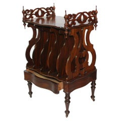 Victorian Strongly Figured Mahogany  Canterbury