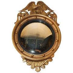 Federal Style Giltwood Convex Mirror
