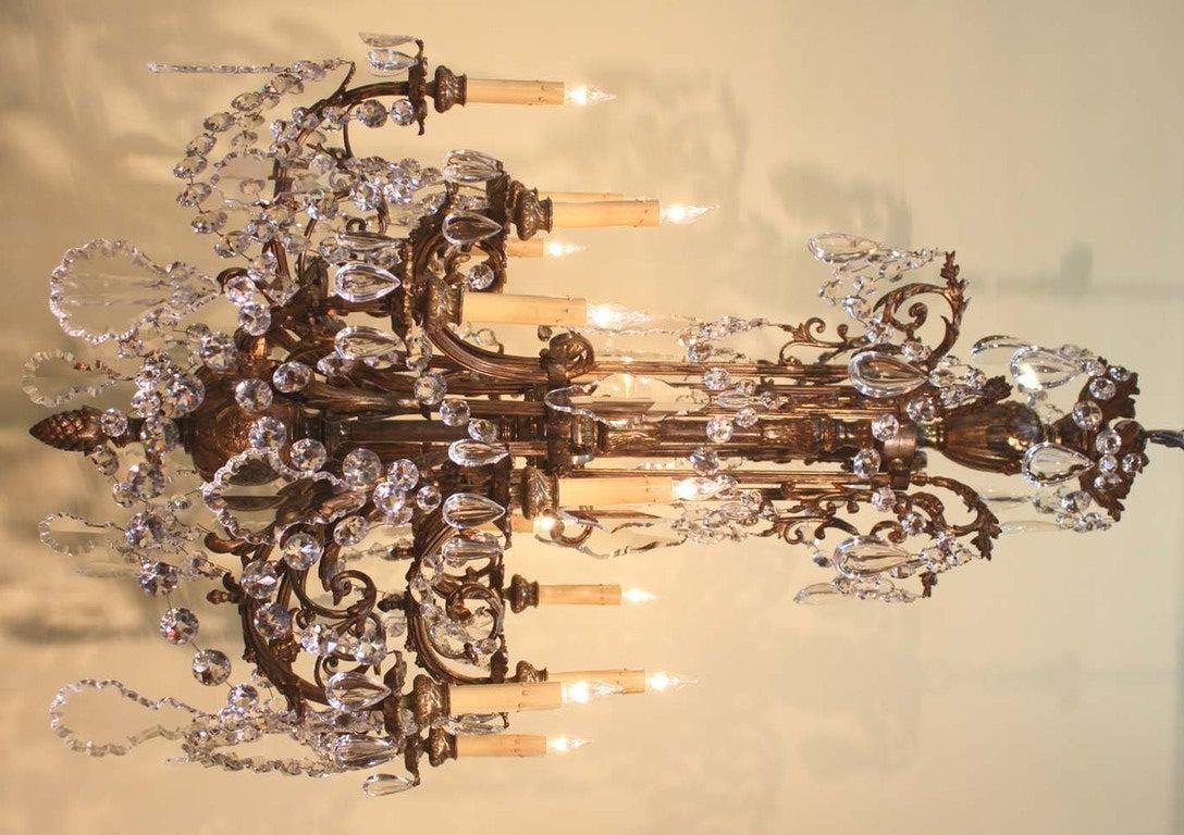Napoleon III Style Bronze And Crystal Chandelier At 1stdibs