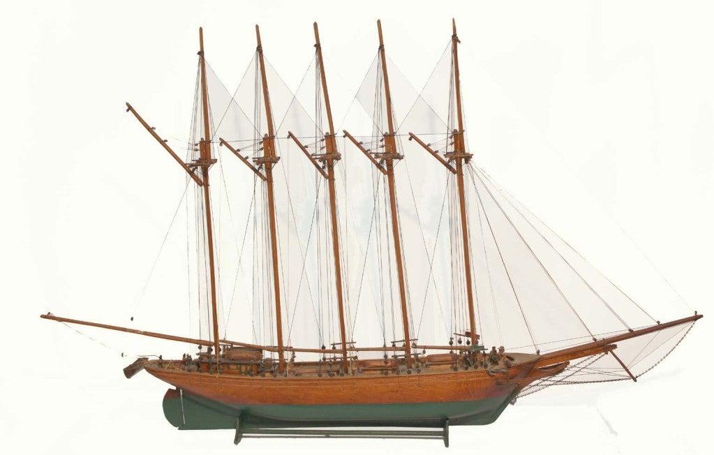 Wooden Model of the Schooner, Gaspé Trader For Sale at 1stdibs