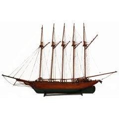 Wooden Model of the Schooner, Gaspé Trader