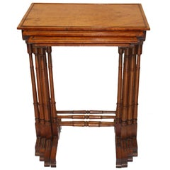 George III  SatinwoodQuartetto of Nesting Tables