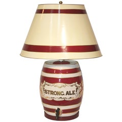 Ceramic Table Lamp , Ale Barrel