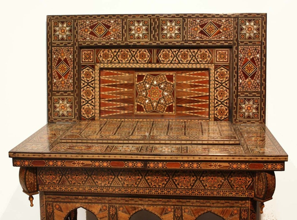 Syrian Inlaid Games Table 3