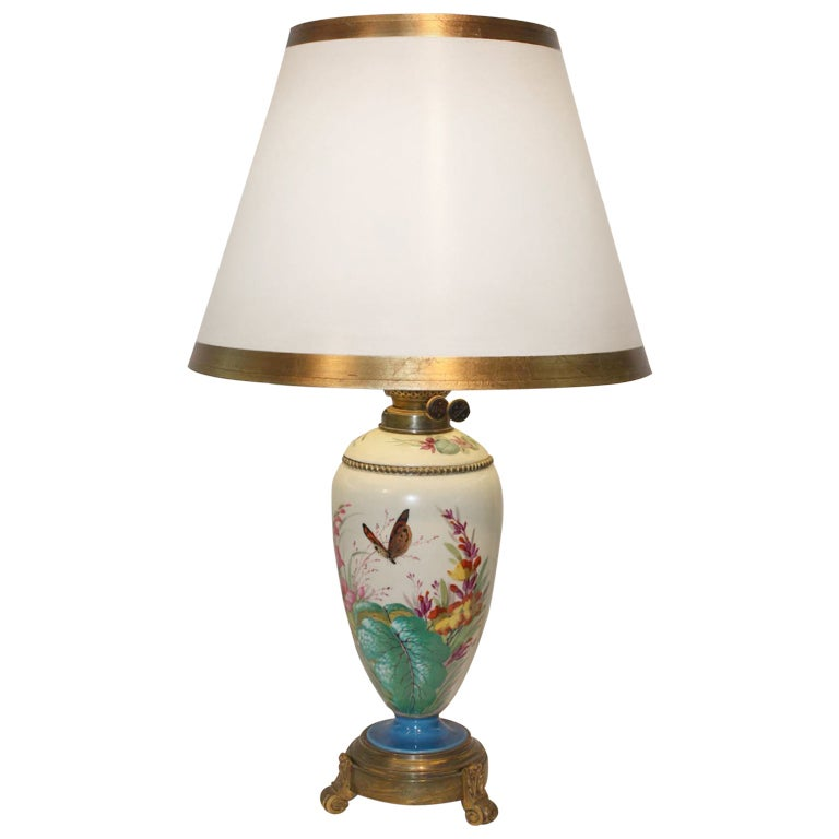 victorian porcelain lamp for sale at 1stdibs. Black Bedroom Furniture Sets. Home Design Ideas