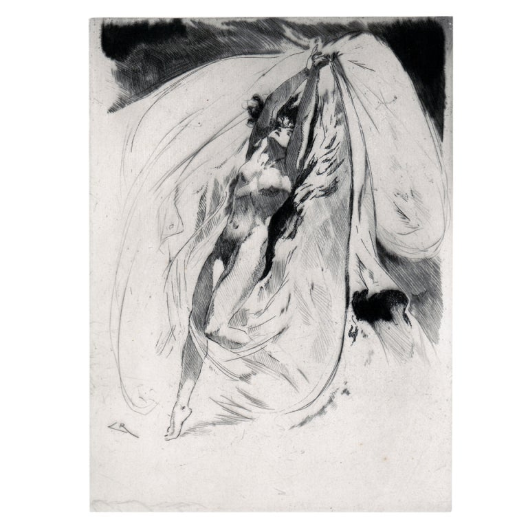 Erotic Etching Of Dance At 1stdibs