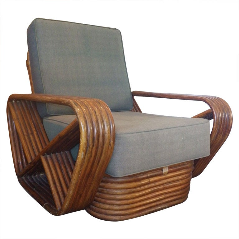 Single lounge chair in the style of paul frankl at 1stdibs for Single lounge chairs for sale