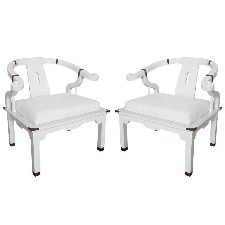 Pair of James Mont Style Chairs