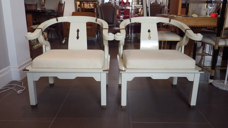 Pair of James Mont Style Chairs 3