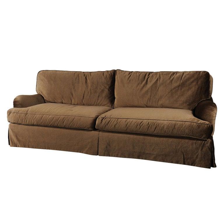 Silk Mohair Dld Custom Sofa For Sale At 1stdibs