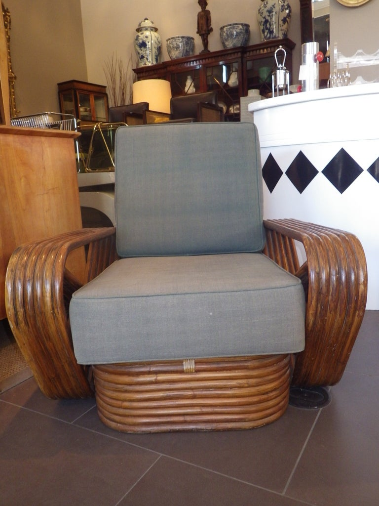 Single Lounge Chair In The Style Of Paul Frankl At 1stdibs
