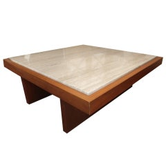 Robsjohn Gibbings Style Large Square Coffee Table