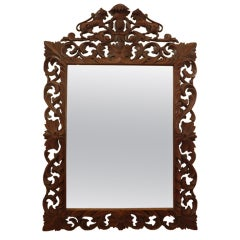 Hand Carved 19th Century Mirror