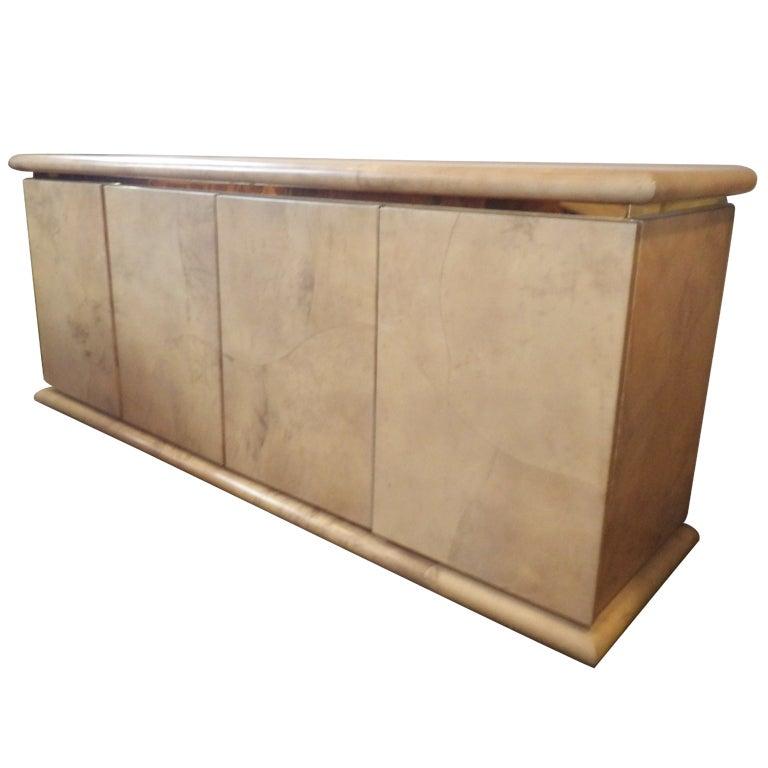 Karl Springer Parchment Cabinet