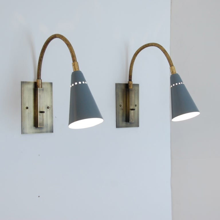 Stilux gooseneck sconces at 1stdibs - Gooseneck wall sconce ...