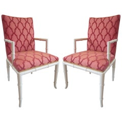 Pair of Faux Bamboo Chairs