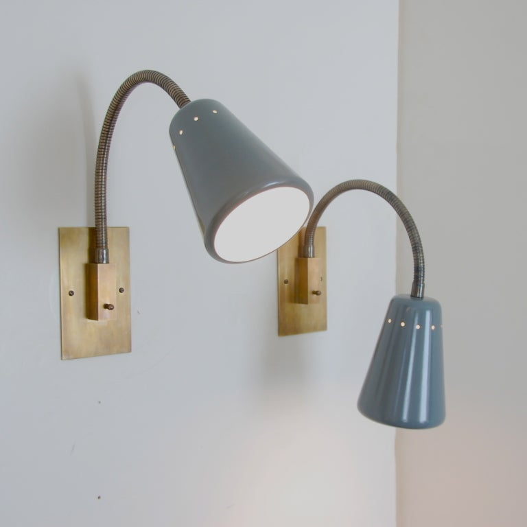 Large stilux gooseneck sconce at 1stdibs - Gooseneck wall sconce ...