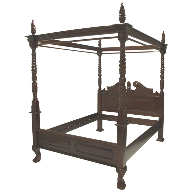 French style four poster canopy bed at 1stdibs for French style gazebo