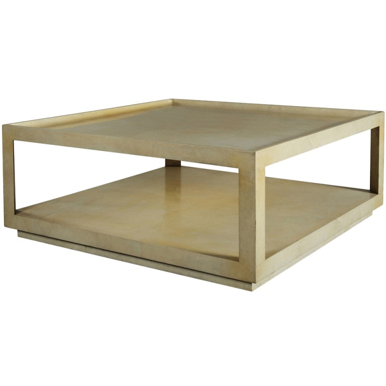 Karl Springer Parchment Coffee Table At 1stdibs