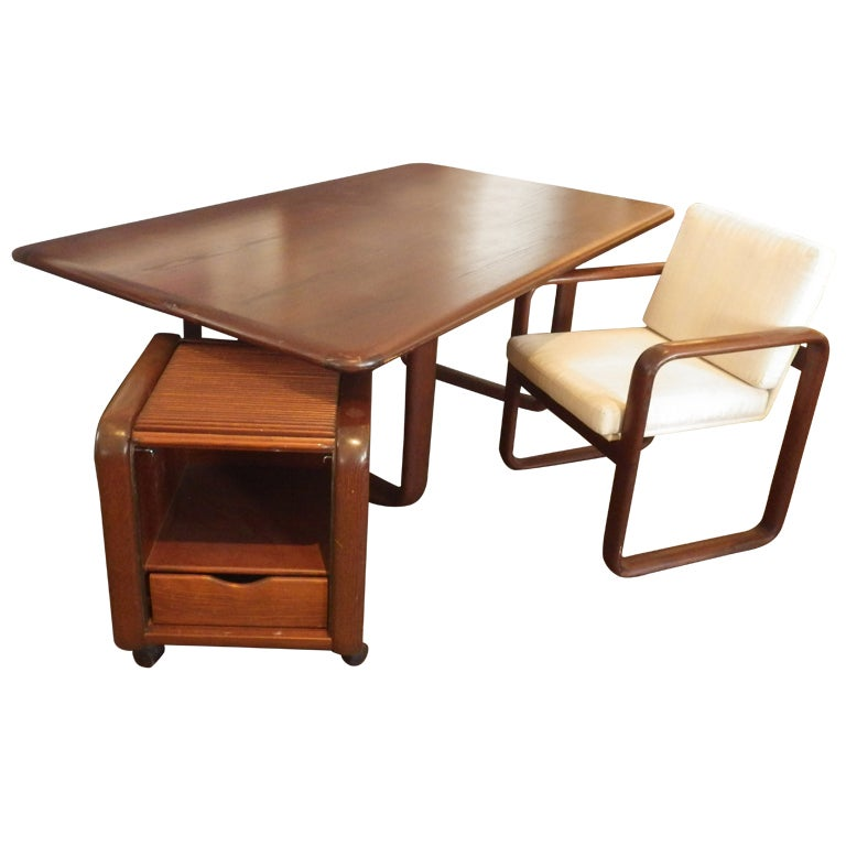 Rosenthal Desk, Chair, and File Cabinet