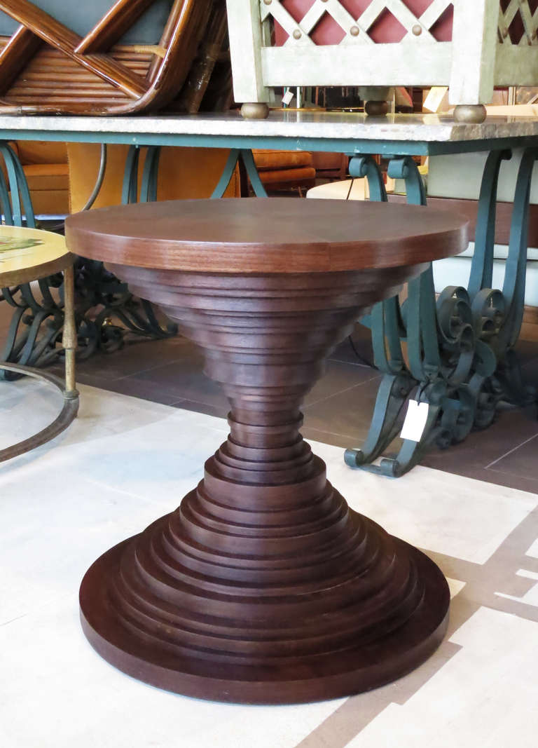 Unique round layered side table at 1stdibs for Unique end tables