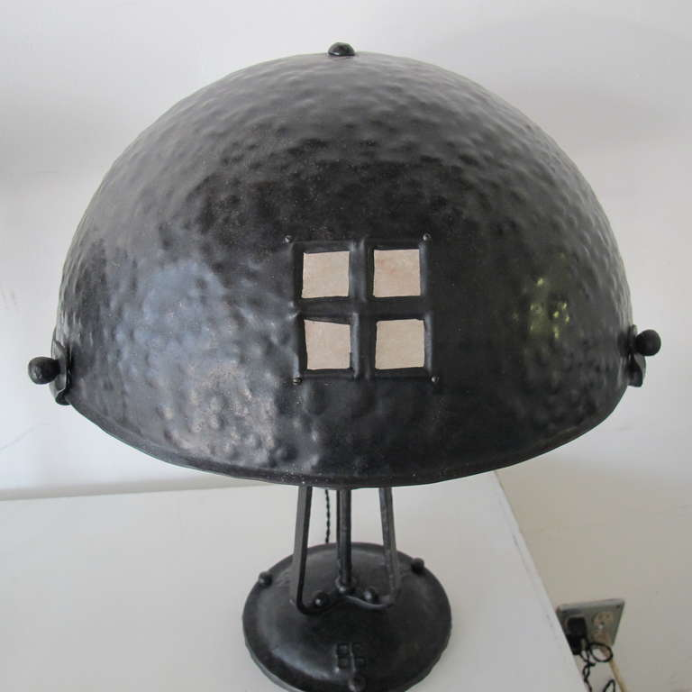 pair of arts and crafts style table lamps at 1stdibs. Black Bedroom Furniture Sets. Home Design Ideas