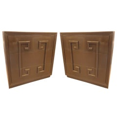 "Pair of ""Greek Key"" Cabinets by Kittinger"