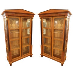 Pair of Biedermeier Armoires