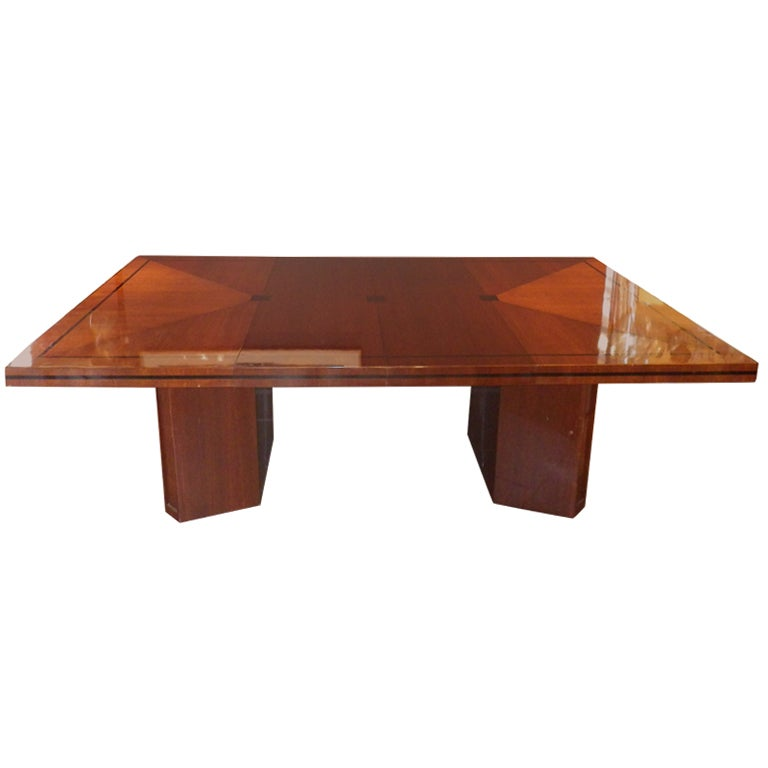 Tommi Parzinger Mahogany Dining Table