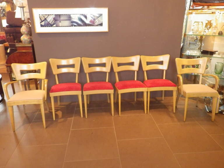 Mid-Century Modern Heywood Wakefield Dining Room Set with Cabinets For Sale