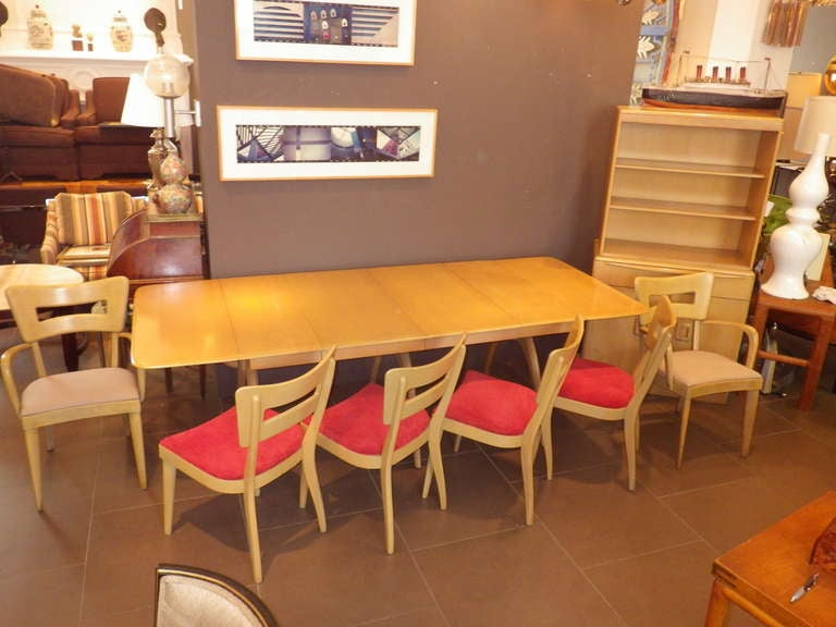 Heywood Wakefield Dining Room Set with Cabinets For Sale 2