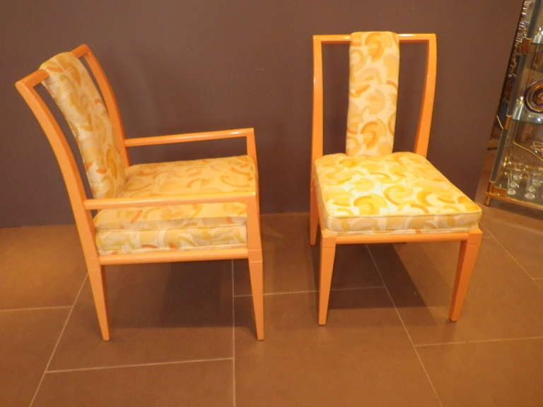 American Set of 8 Chairs by Tommi Parzinger For Sale