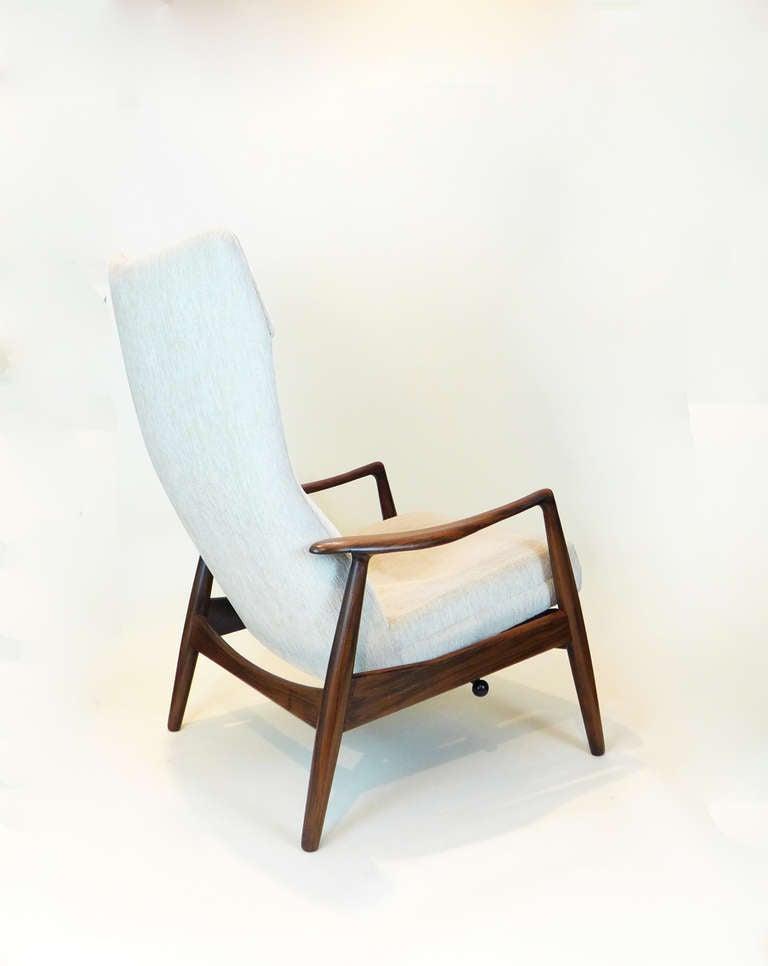 Danish modern lounge chair and ottoman attributed to ib for Danish modern la