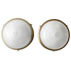 Pair of Round Sconces by Sergio Mazza