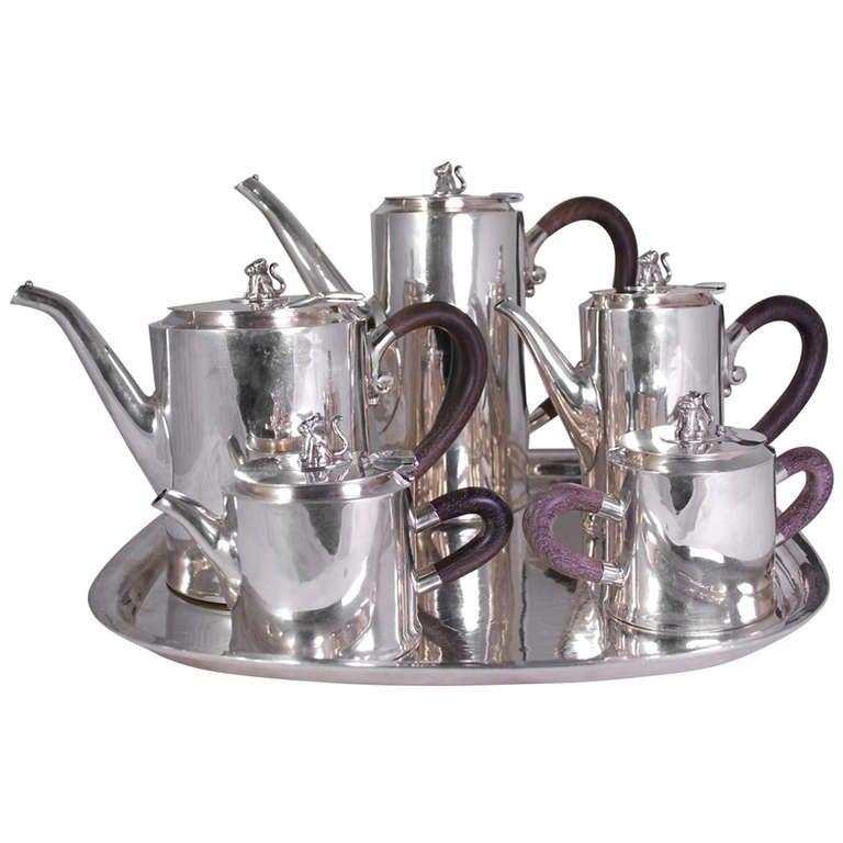 William Spratling Quot Jaguar Quot Tea And Coffee Service At 1stdibs