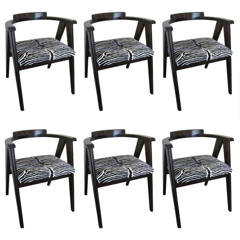 Set Of Six Compass Chairs By Allan Gould At 1stdibs
